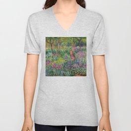 Claude Monet - The Iris Garden At Giverny Unisex V-Neck