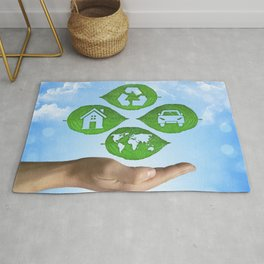 recycling eco concept Rug
