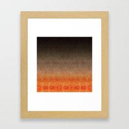 """""""Sabana Night Degraded Polka Dots"""" Framed Art Print"""