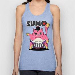 Sumo Wrestler Cat Yokozuna ネコ Neko Pink Unisex Tank Top