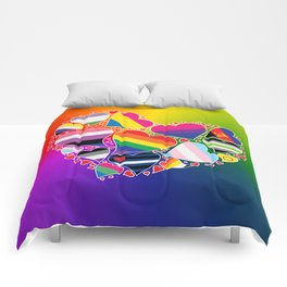 LGBTQA+ Community Pride Heart Comforters