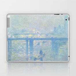 1899-Claude Monet-Charing Cross Bridge-65 x 80 Laptop & iPad Skin