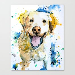 Yellow Labrador Retriever Artwork Canvas Print