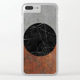 Abstract - Marble, Concrete, Rusted Iron Clear iPhone Case
