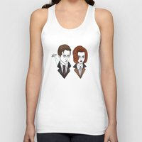scully Tank Tops featuring mulder and scully by Bunny Miele
