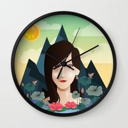 Lotus Lady Wall Clock