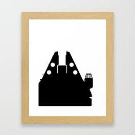Millennium Falcon - Black Framed Art Print