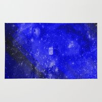 doctor who Area & Throw Rugs featuring Doctor Who by Fimbis