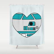 R2D2 Valentine Shower Curtain