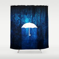 umbrella Shower Curtains featuring umbrella by Darthdaloon