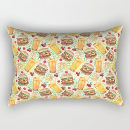 burgers, juices & fries Rectangular Pillow
