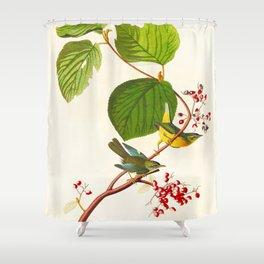 Pine Swamp Warbler Bird Shower Curtain