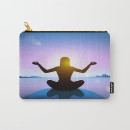 Yoga Studio Calming Purple / Blue Padmasana Pose Carry-All Pouch