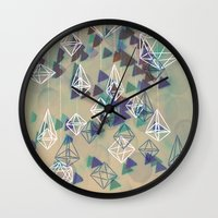 crystals Wall Clocks featuring crystals by Sil-la Lopez