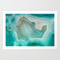 patterns Art Prints featuring THE BEAUTY OF MINERALS 2 by Catspaws