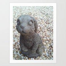 Beware of Bunny Art Print