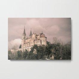 Basilica of Santa Maria la Real of Covadonga (retro) Metal Print