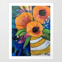 Orange Poppies Art Print