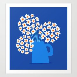 Abstraction_FLORAL_Blossom_001 Art Print