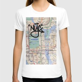 Queens NYC Subway Map T-shirt