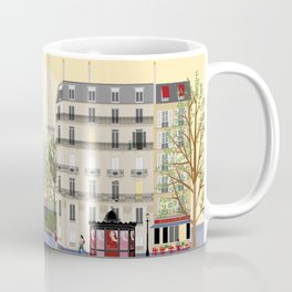 Paris Street Scene Art Print - Dawn Coffee Mug