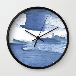 Steel blue blurred watercolor texture Wall Clock