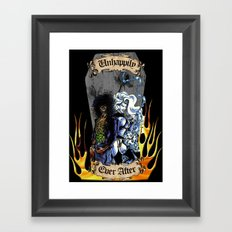 Unhappily Ever After - Lady Death & Evil Ernie Framed Art Print