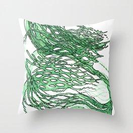 lettuce lattice Throw Pillow