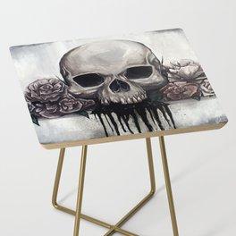Skull + Roses Side Table