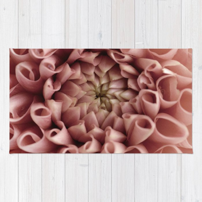 Blush pink flower rug by printsproject society6 blush pink flower rug mightylinksfo