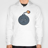 kawaii Hoodies featuring Kawaii Bomb by Nir P