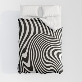 Optical Illusion Op Art Black And White Comforters