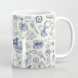 Pirate Play - Cream Coffee Mug
