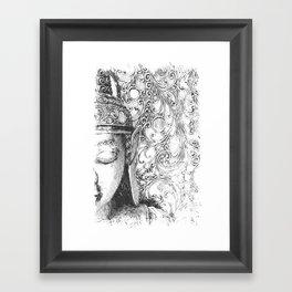 Buddha Sketch Framed Art Print