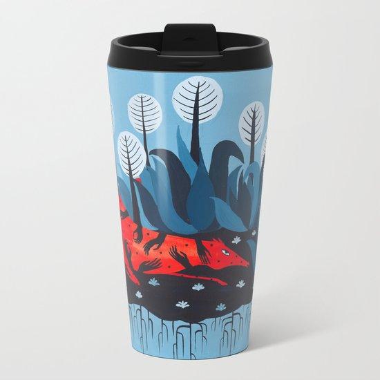 Smug red horse 3. Metal Travel Mug