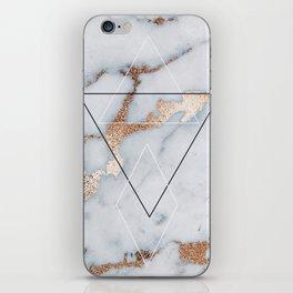 Geometric marble iPhone Skin