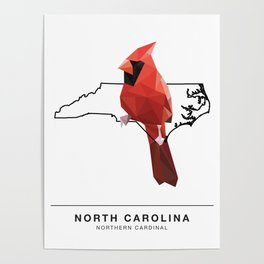 North Carolina – Northern Cardinal Poster