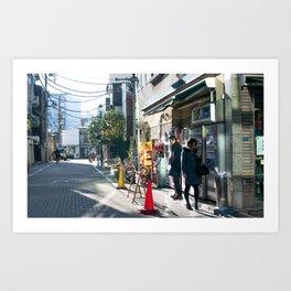 Monday Morning Cigarette in Tokyo Art Print