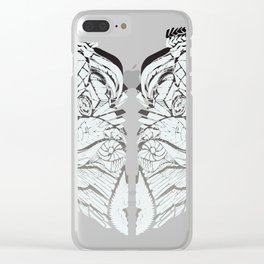 White Matter Clear iPhone Case