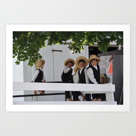 Five Amish Boyz Art Print