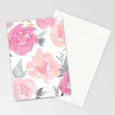 Muted Floral Watercolor Design  Stationery Cards