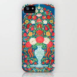 Vintage Floral Pattern from Indian, 19th Century iPhone Case