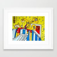 college Framed Art Prints featuring Trinity College by Joe Pansa