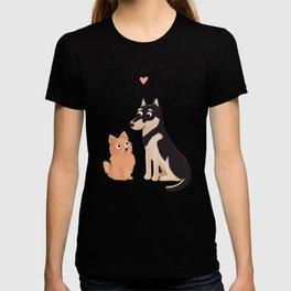 "Custom Dog Artwork, ""Riley and Kaya"" T-shirt"