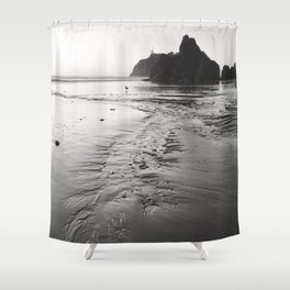 Tide Pool Beach Coast Coastal Nautical Seascape Northwest Pacific Ocean Washington Rocky Waves Sand Shower Curtain