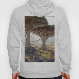 Amber dusk with trending nature landscape Hoody