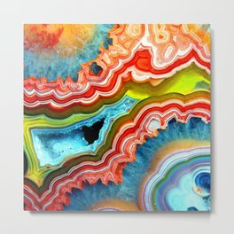 Colorful Rock Metal Print