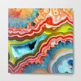 Colorful Rock Metal Print