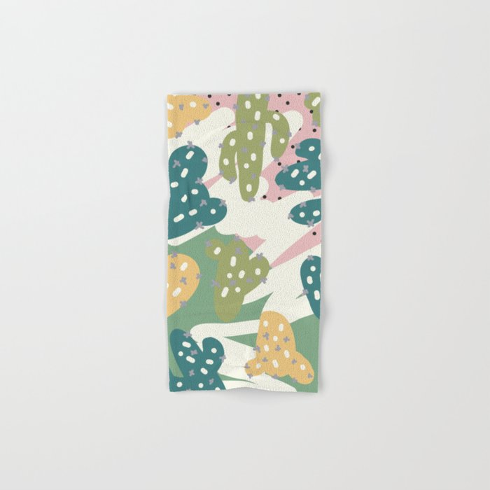 Cactus Pattern Hand & Bath Towel