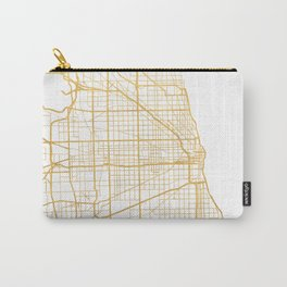 CHICAGO ILLINOIS CITY STREET MAP ART Carry-All Pouch